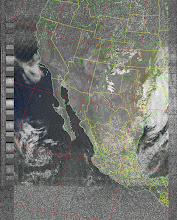 Photo: NOAA 19 northbound 34W at 30 Sep 2012 20:20:02 GMT on 137.10MHz, MSA enhancement, Normal projection, Channel A: 2 (near infrared), Channel B: 4 (thermal infrared)