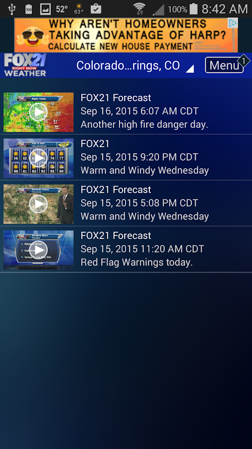 FOX21 Weather- screenshot