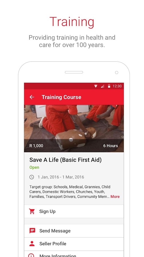 South African Red Cross- screenshot