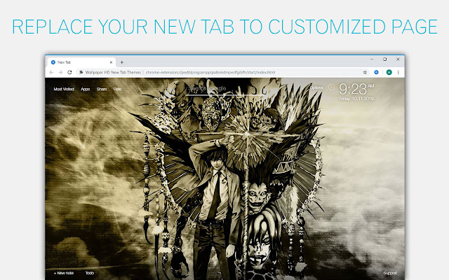 Death Note Wallpapers New Tab - freeaddon.com