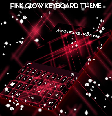 Pink Glow Keyboard Theme - screenshot