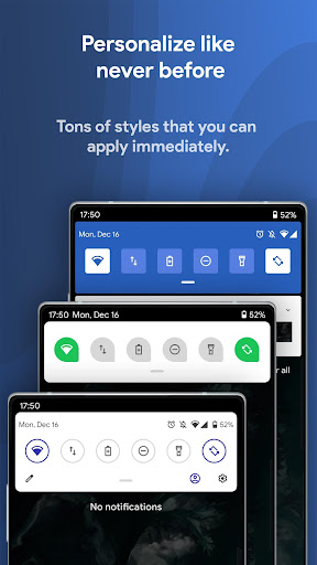Power Shade: Notification Panel & Quick Settings android2mod screenshots 1