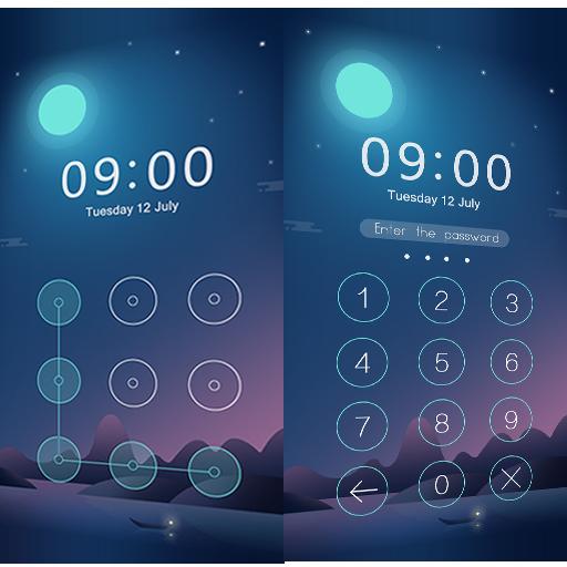 Applock Theme Night 程式庫與試用程式 App LOGO-APP開箱王
