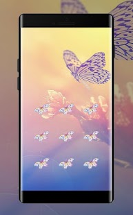 Butterfly APP Lock Theme Pink Pin Lock Screen - náhled