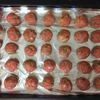 Easy Baked Beef Meatballs.