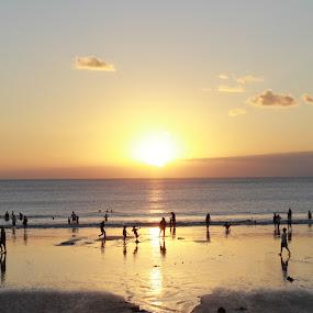 kuta bali by Bobby Dozan - Landscapes Beaches ( bali, kuta, beaches, sunset, indonesia )