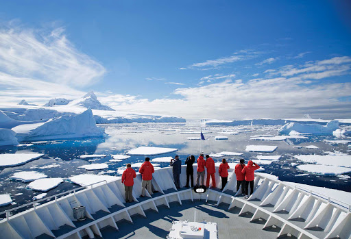 Experience the breathtaking sights of Antarctica from the bow of National Geographic Explorer during a Lindblad expedition.