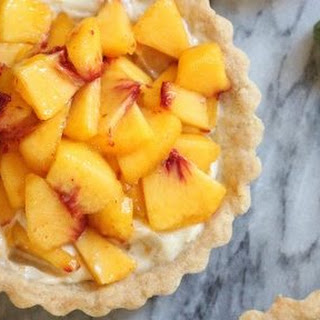 Fresh Peach Tarts with Shortbread Crust