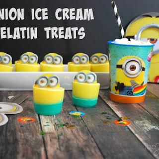 Minions Ice Cream Gelatin Treats.