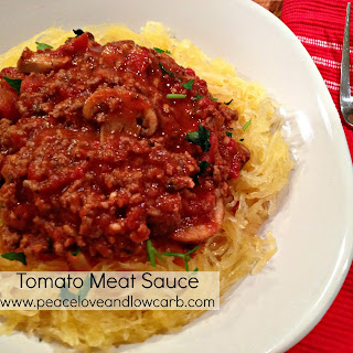 Hearty Tomato Meat Sauce – Low Carb, Gluten Free.