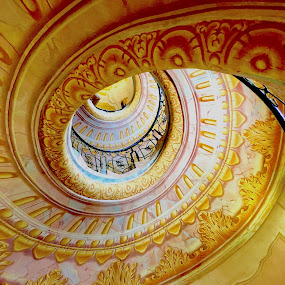 Stairway, Melk Abbey by Timothy Carney - Buildings & Architecture Architectural Detail ( melk abbey, baroque, spiral staircase, austria )