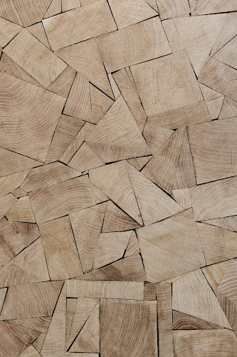 patchwork wood floor in pas de calais store in paris photo by Adrien Dirand