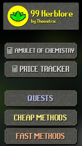 99 Herblore Oldschool RS Price Method Tracker Screenshot 1
