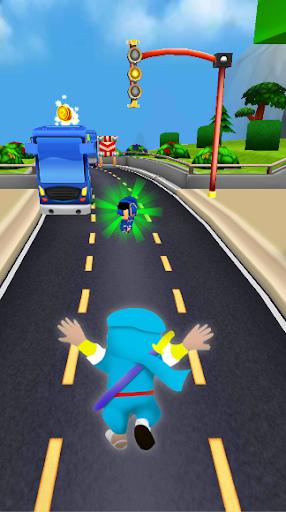 Subway Ninja Hattori Run screenshot 4