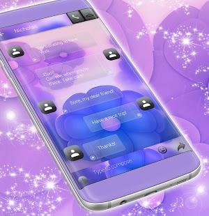 SMS Fialové květiny - náhled