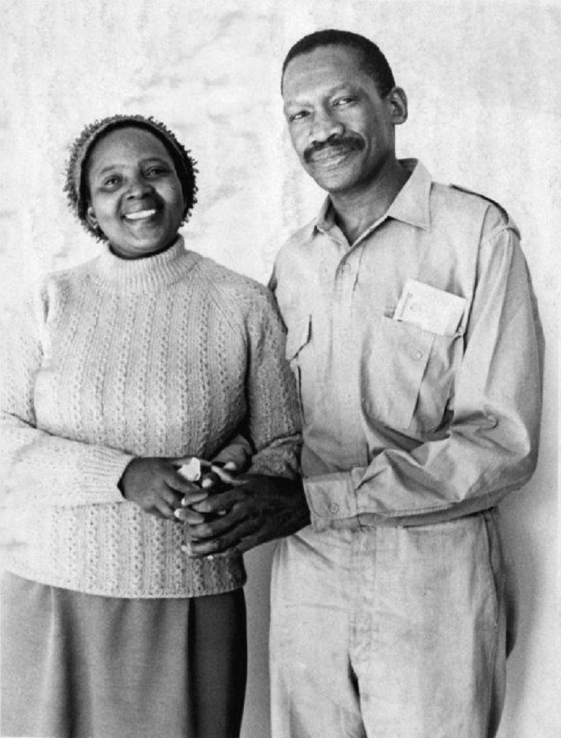 Zondeni and Robert Sobukwe, soon after his release from Robben Island.
