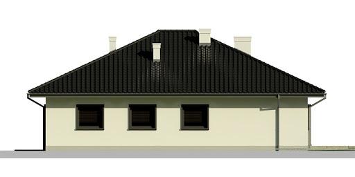 Dom przy Słonecznej 4 bis - Elewacja tylna