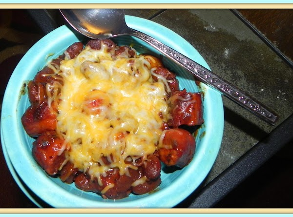 8-21-13 --- Today I added grilled & chopped all beef angus hot dogs to...