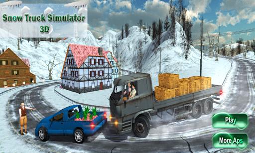 雪のトラックオフロード