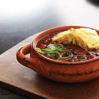 Black Bean Chili with Cornbread Crust