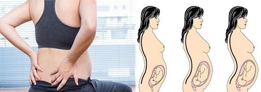 mẹ bầu bị đau thắt lưng khi mang thai
