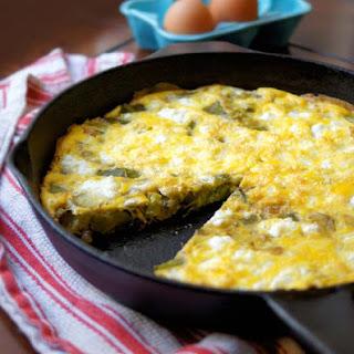 Asparagus, Leek, and Goat Cheese Frittata