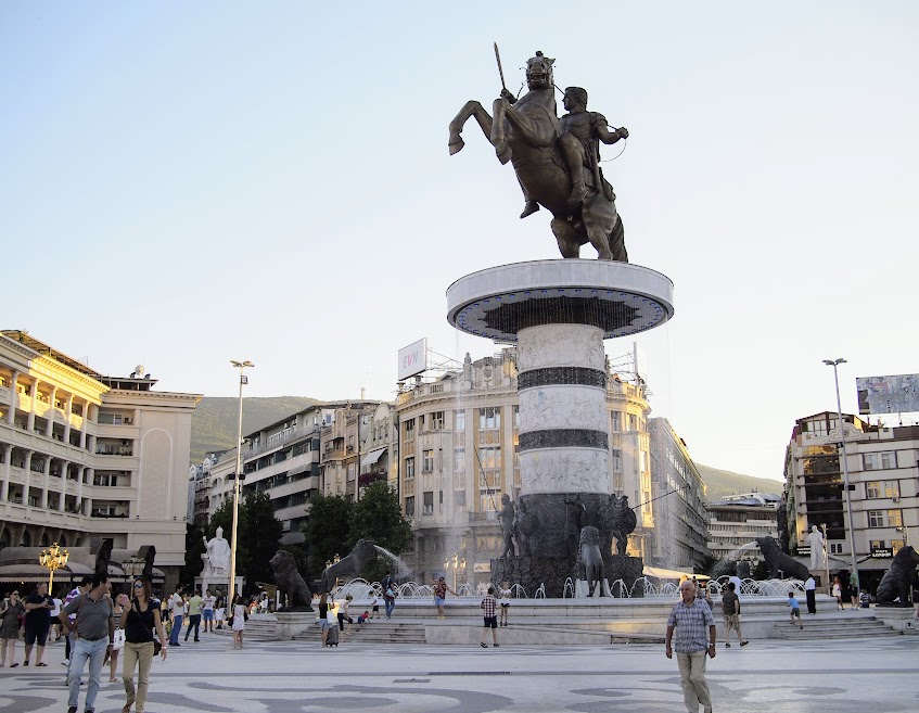 Alexander the Great statue in Skopje