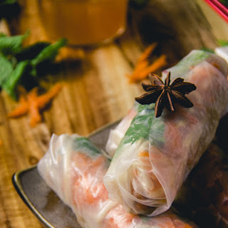 Lemongrass Pork Rice Paper Rolls.