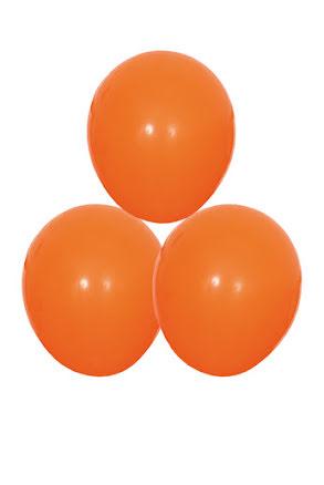 Orange ballonger, 25 st