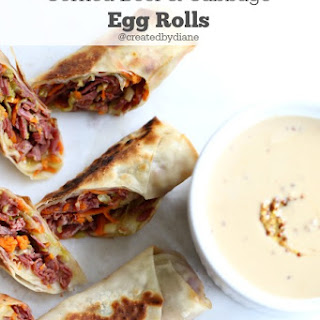 Corned Beef & Cabbage Egg Rolls.