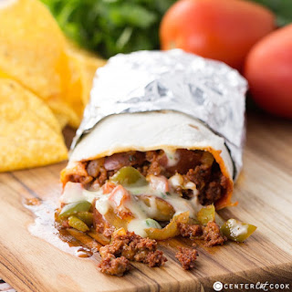 Chorizo, Potato, and Queso Burritos