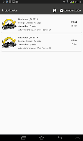 android Administrador Levering Screenshot 5