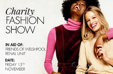 Charity fashion show in town