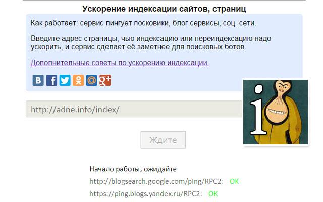 SEO: Быстрая индексация сайтов в поисковиках