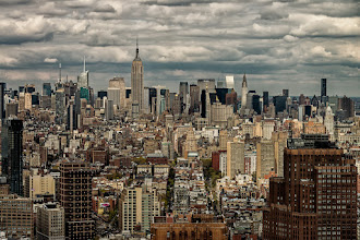 Photo: I took this shot looking 'uptown' in New York City from the 47th floor of the 7 World Trade Center building. The home office for the company I work for will be moving to 7 World Trade and I was able to get a tour of the building while I was visiting New York. I shot this with a D800 and the 28-300mm lens and processed it in Lightroom and Photoshop. I bumped the clarity filter in Lightroom and then used some filters in Color Efex Pro 4 to increase the contrast a bit more. In Color Efex Pro 4 I used a combination of the Detail Extractor, Reflector Efex and Levels & Curves. The end result is a bit noisier than I would like, but I do like the additional definition it gave the clouds and the buildings.