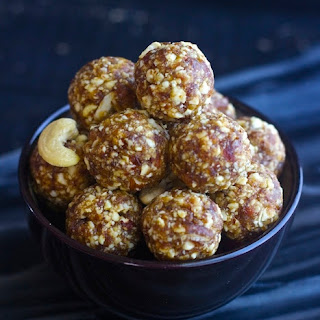 Dates and nuts Ladoo / Healthy Energy balls – No sugar added