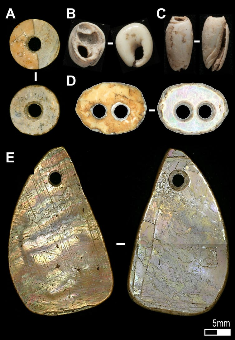 Shell beads such as these were made in Southeast Asia from at least 42,000-years-ago.