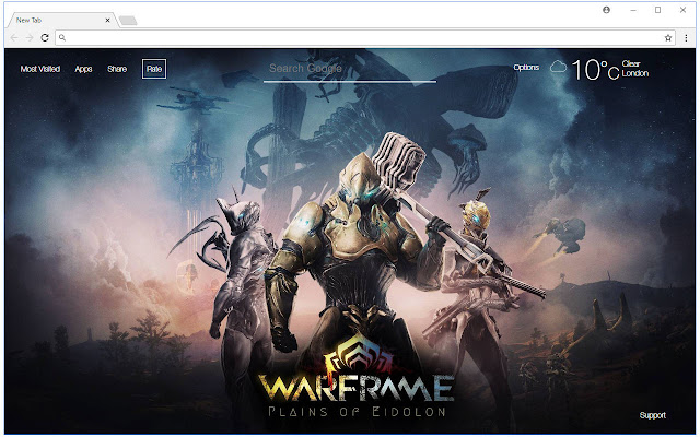 Warframe Hd Wallpaper New Tab Themes Free Addons