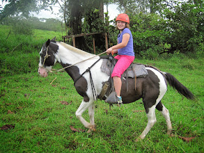 Photo: Charlotte on her horse