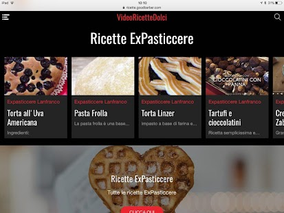 Video Ricette Dolci- screenshot thumbnail