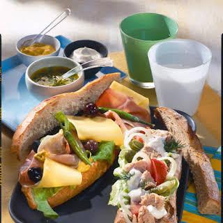 Tuna and Ham Sandwiches.