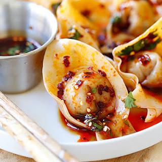 Sichuan Red Oil Wontons Recipe (红油抄手)