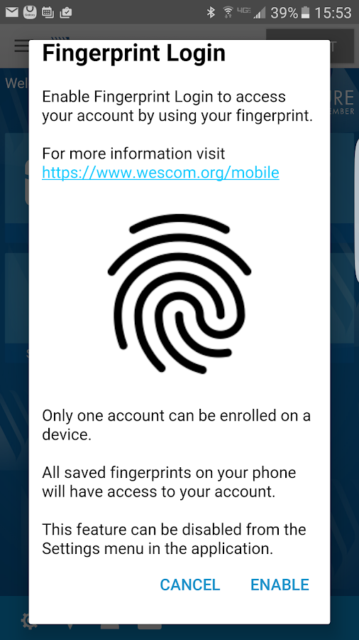 Wescom Credit Union Mobile- screenshot