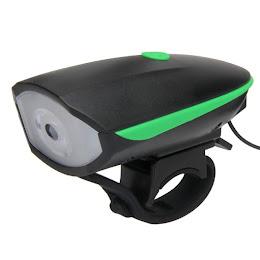 Lanterna LED 1W far bicicleta cu sonerie si incarcare USB, FY058