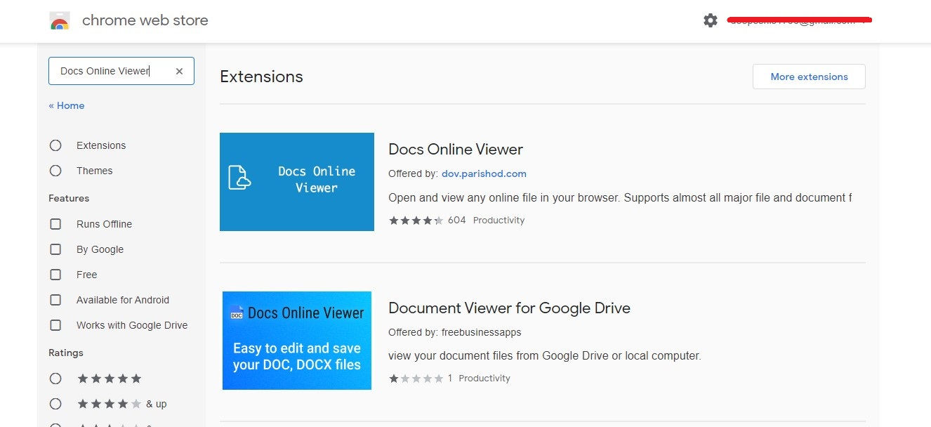 """To add the extension to Google Chrome, go to the Chrome Web Store and search for """"Docs Online Viewer,"""" then click the """"Add to Chrome"""" option."""