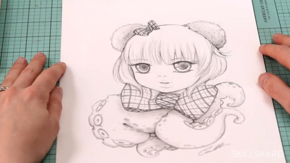 drawing of anime girl