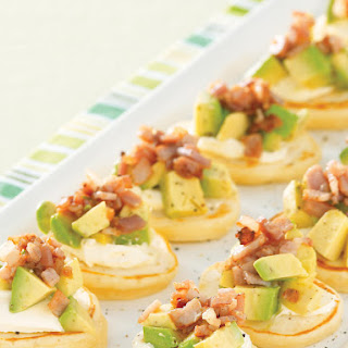 Blinis with Bacon and Avocado