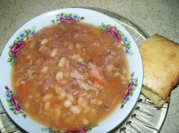 Navy Bean And Ham Soup (in A Crock-pot)