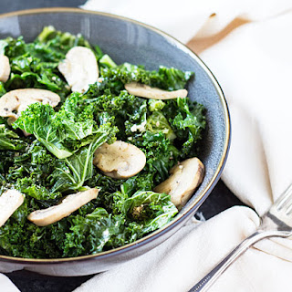 Sauteed Kale & Mushrooms