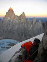 Photo: Enjoying a spectacular sunset on Cerro Torre